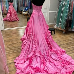 southern belle pink formal dress